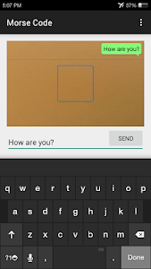 Morse Code Communicator screenshot 1