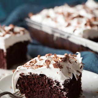 Chocolate Cake with Marshmallow Frosting.