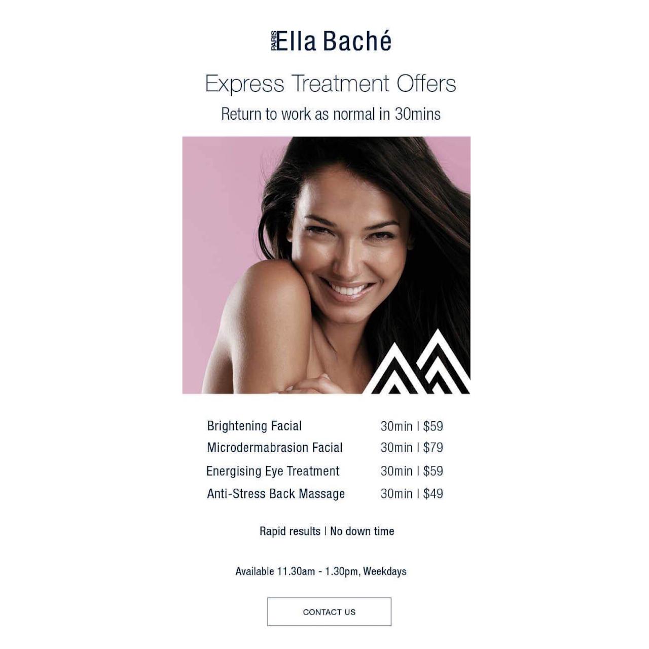 Ella Baché Perth - SKIN CARE Facials Body WAXING & IPL SPRAY