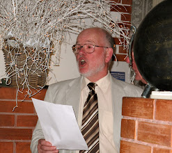 Photo: Bass Peter Boyle giving his all during the after dinner entertainment.