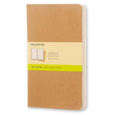 3 x Cahier Journal Large Kraft