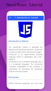Learn JavaScript PRO : Offline Tutorial Screenshot