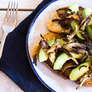 Avocado & Sautéed Mushroom Toast.