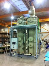 Photo: Gaswasser voor het afvangen van ammoniak,. klaar voor verscheping naar Xergi Engeland