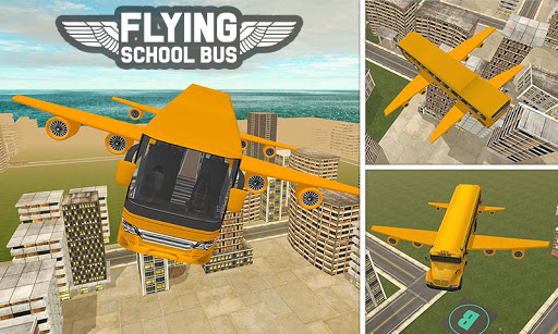 Flying School Bus Sim 2017 1.0.3 screenshots 3