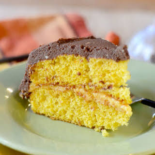 Marscapone Frosted Pumpkin Cake.