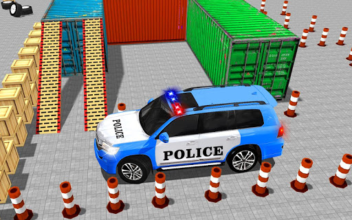 Police Jeep Spooky Stunt Parking 3D apkpoly screenshots 7