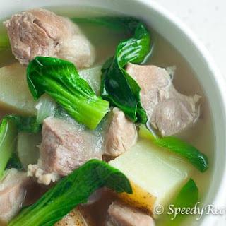 Filipino Pork Nilaga Soup (Boiled Pork with Bok Choy and Potato) Recipe