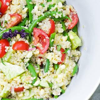 Tomato Salad with Green Beans, Corn and Bulgur Recipe