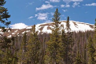Photo: Still lots of snow on the divide.