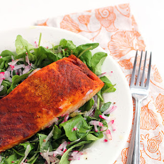 Easy Broiled Curry Salmon.