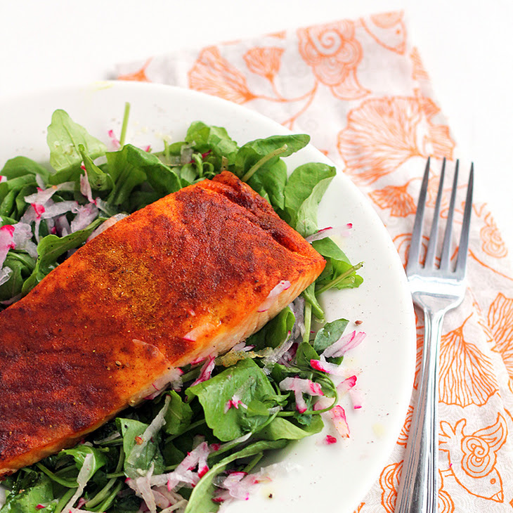 Easy Broiled Curry Salmon
