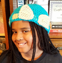 Photo: Turquoise hat w/ flower. I made following tutorial at http://www.youtube.com/watch?v=SKyrgiKgMjw.