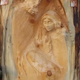 scultura in un tronco di legno by Patrizia Emiliani - Artistic Objects Other Objects ( tronco, scultura, legno,  )