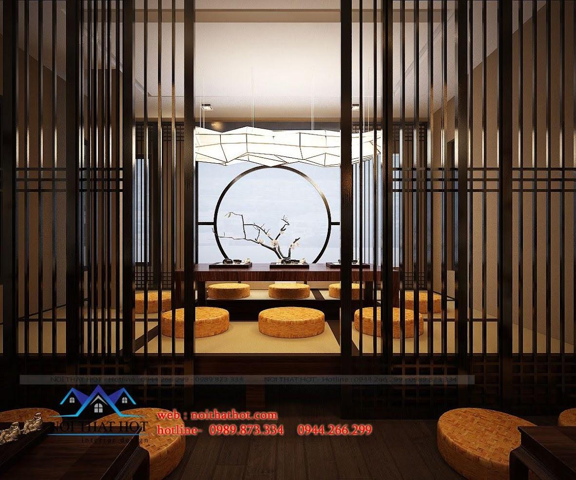 thiết kế quán trà đạo 7