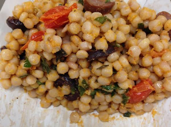 Pearl Couscous With Roasted Tomatoes Recipe