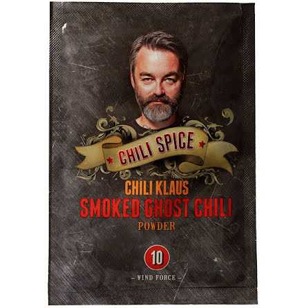 Smoked Ghost chili powder vindstyrka 10 – Chili Klaus