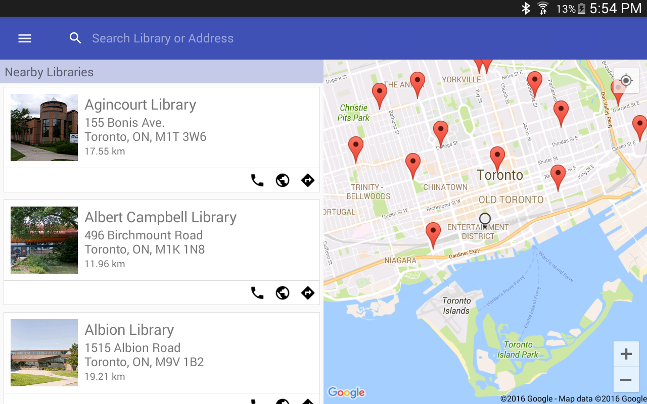 Toronto Public Libraries- screenshot