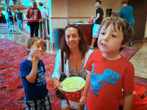 Photo: Finn's First Movie Theater!