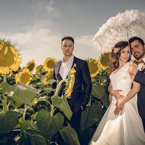 Kiki & Tasos by Jo Polyxromos - Wedding Groups ( wedding, greece, bride and groom, bride, groom )