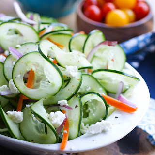 Sweet and Tangy Cucumber Ribbon Salad.