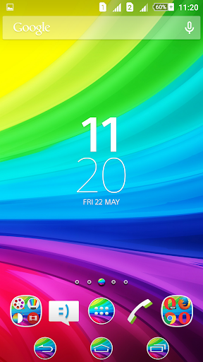 Rainbow Reloaded Xperien Theme