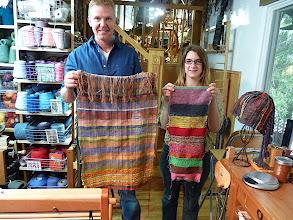 Photo: happy students, loved saori weaving