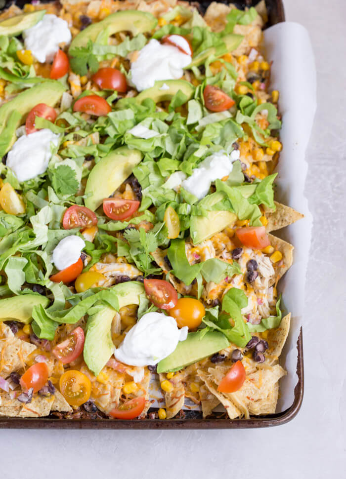 Sheet Pan Chicken Nachos Recipe | Yummly