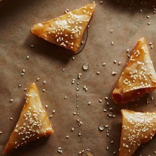 Samsa (Almond-Orange Triangles).