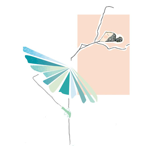 illustration danseuse - cadeau de naissance personnalisé - affiche tableau pour enfant