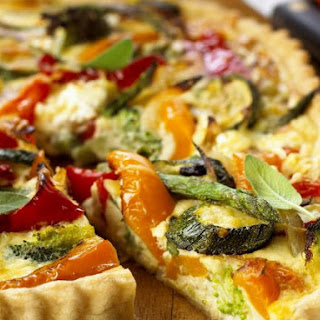 Baked Quiche with Mixed Vegetables