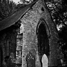 Mortis by Jakob Feather - Buildings & Architecture Decaying & Abandoned ( gothic, graves, death, cemetery, architecture, mementomori, photography, blackandwhite, life, goth, bnw, decay, abandoned )