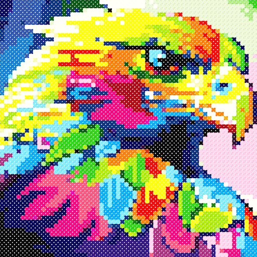 Animals Cross Stitch : Needlework Color by Numbers Icon