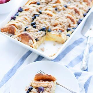 Lemon-ricotta Overnight Pancake Casserole With Blueberries