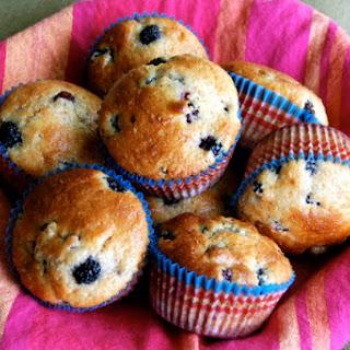 Lemon Dewberry Muffins.
