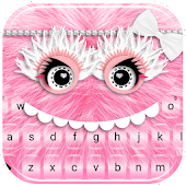 Pink Furry Monster Keyboard Theme