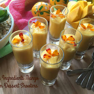 Mango Cream Dessert Shooters.