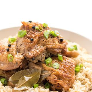 Slow Cooker Filipino Chicken Adobo.