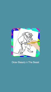 How To Draw Beauty And The Beast - Step by Step - náhled