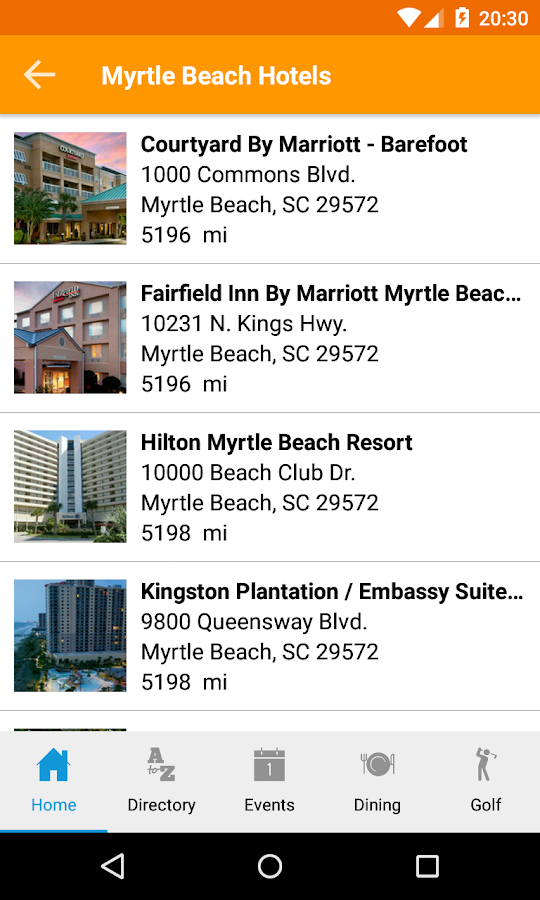 Myrtle Beach Mobile- screenshot