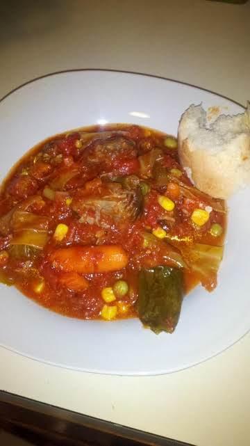 Meme's Pot Roast Tomato-y Veggie Soup