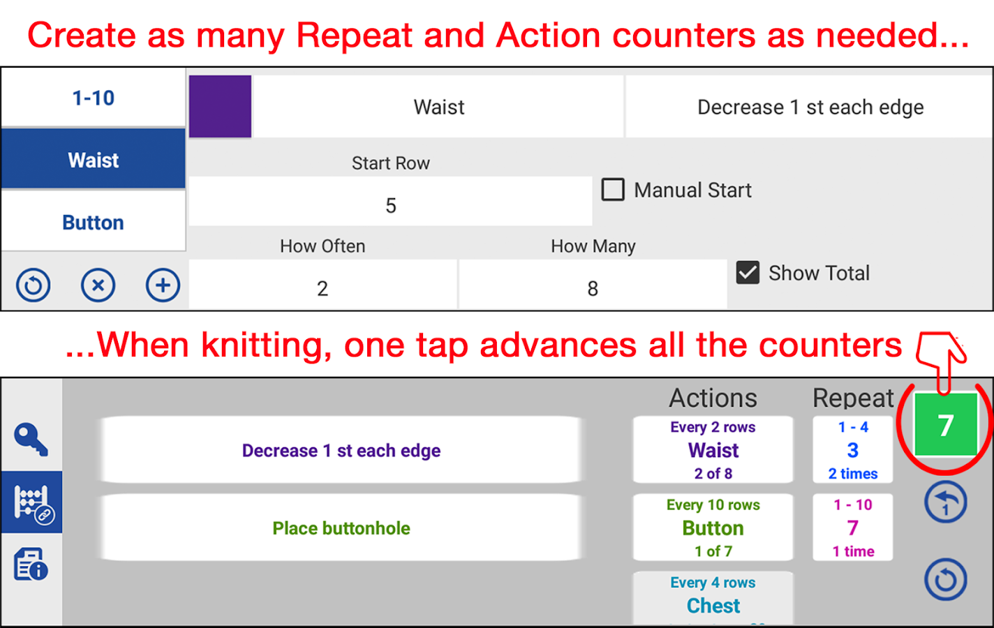 knitCompanion- screenshot