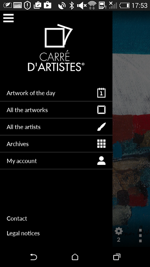 Carré d'artistes- screenshot