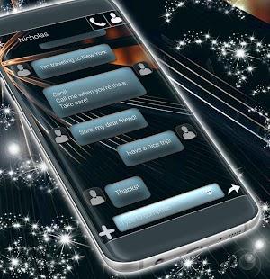 Black SMS Theme - náhled