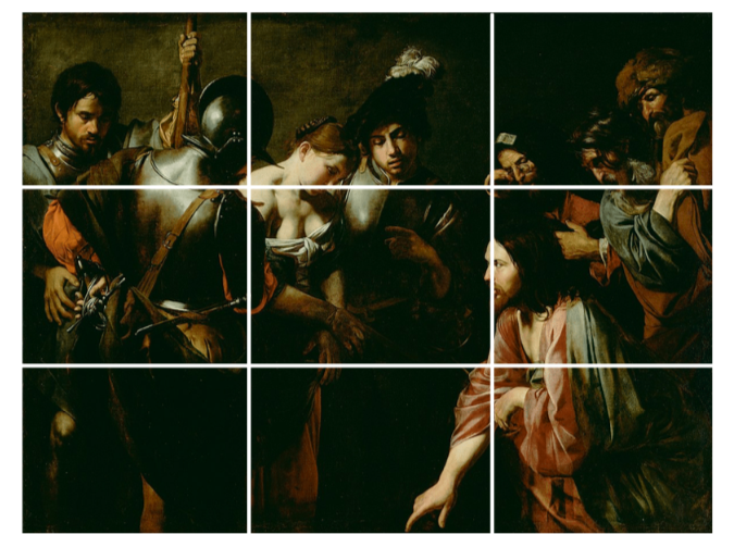 Design composition 3 - Application of Rule of the Thirds in Bolougne's Christ and The Adulteress.