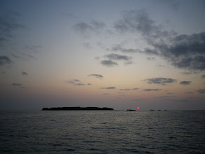 Photo: Sunset in Lady Musgrave lagoon