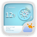 Blue Gear Theme GO Weather EX icon