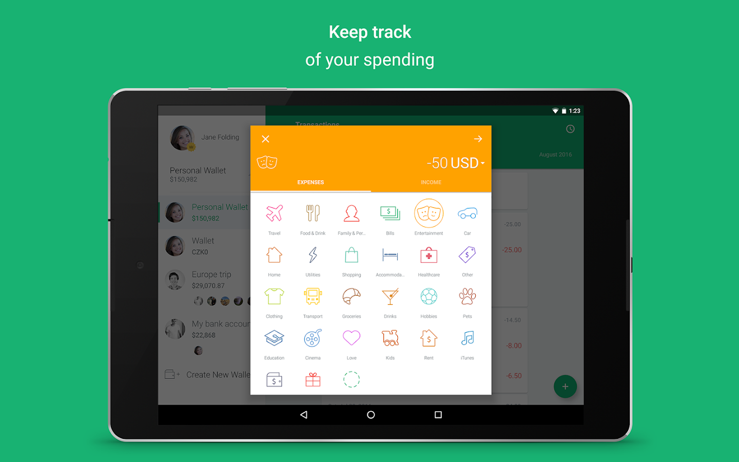 Spendee - budgeting app, expense tracker & planner- screenshot