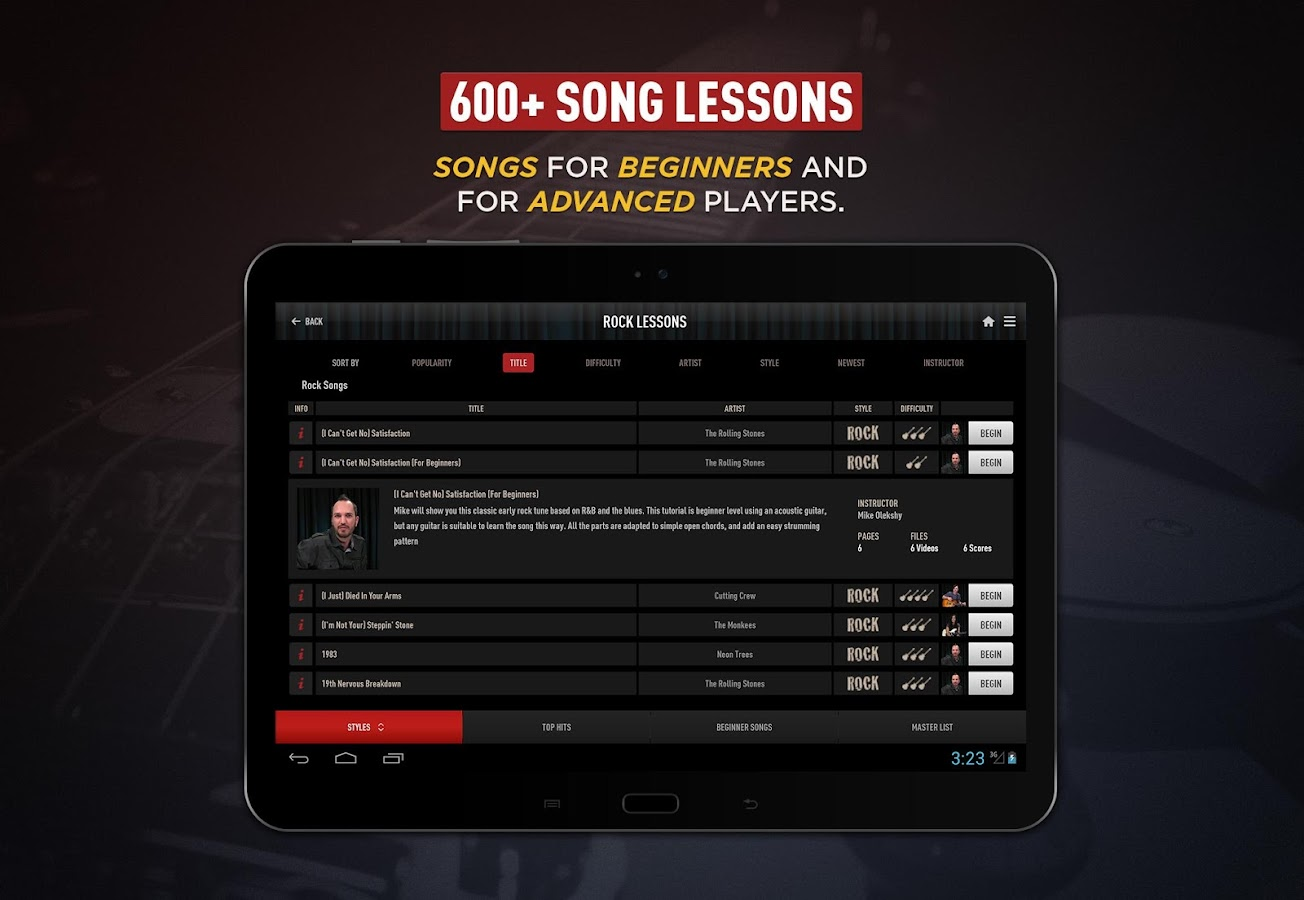 Guitar Lessons by GuitarTricks- screenshot