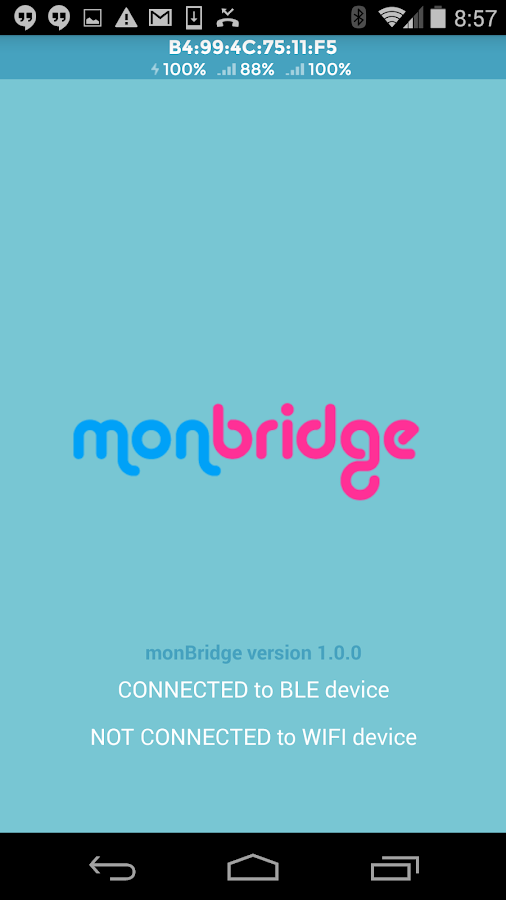 monBridge-BLE to WIFI Bridge- screenshot